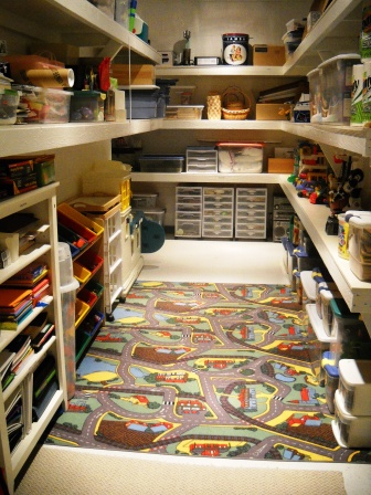 Cluttered Toy Room Closet