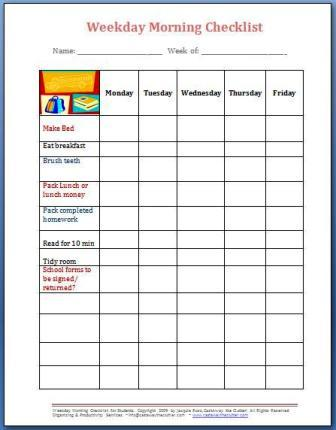 back to school forms and checklists free forms